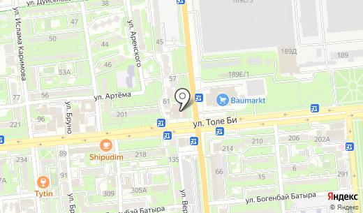 Банкомат Альянс Банк. Схема проезда в Алматы