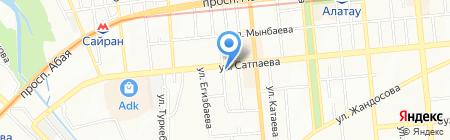 Овощной магазин на ул. 20-я линия на карте Алматы