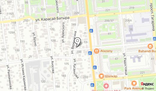 Айболит. Схема проезда в Алматы