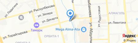 Шиномонтажная мастерская на ул. Навои на карте Алматы