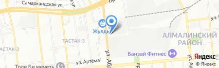 Алатау Жарык компаниясы АО на карте Алматы