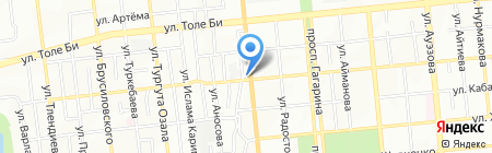 Розыбакиева-1 автостоянка на карте Алматы