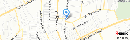 Айман на карте Алматы