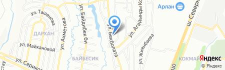 Медицинский пункт на ул. Бекболата на карте Алматы