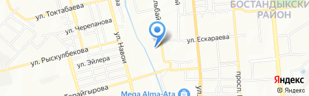 Школа-интернат на карте Алматы