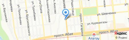 Тау Сункар на карте Алматы