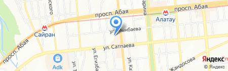 Малыш на карте Алматы