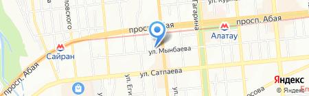 Хан на карте Алматы