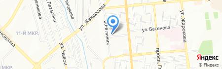 Асан на карте Алматы