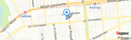 Урга на карте Алматы