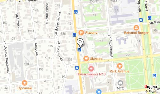 Aragosta. Схема проезда в Алматы