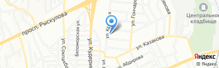 Воздушная иллюзия на карте Алматы