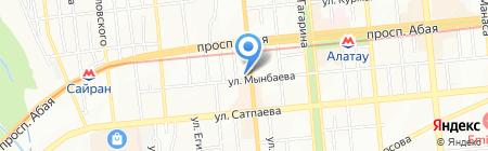 Аспандияр на карте Алматы