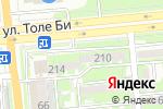 Схема проезда до компании Toguz Print в Алматы