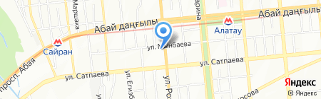 Цветочный салон на карте Алматы