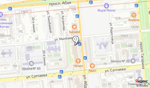 Цветочный салон. Схема проезда в Алматы