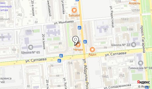 М-Планета. Схема проезда в Алматы