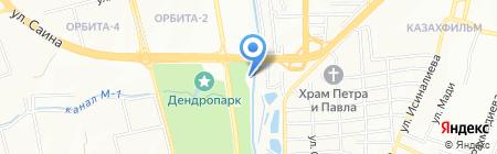 Бунгало на карте Алматы