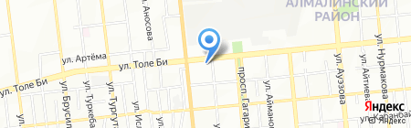 Сеть автомагазинов на карте Алматы