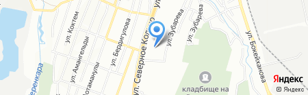 Crown на карте Алматы