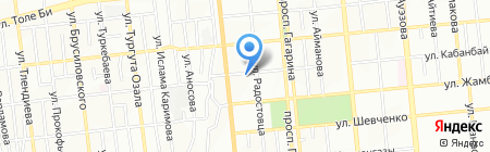 Сары Агаш на карте Алматы