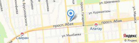2 В на карте Алматы