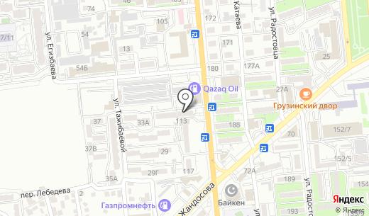 Банкомат Банк ЦентрКредит. Схема проезда в Алматы