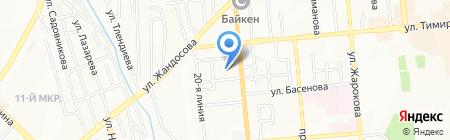 Алла на карте Алматы