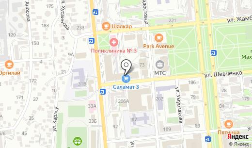 ALMA Trading. Схема проезда в Алматы