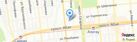 Каслав на карте Алматы