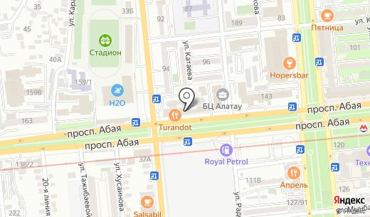 Дастур. Схема проезда в Алматы