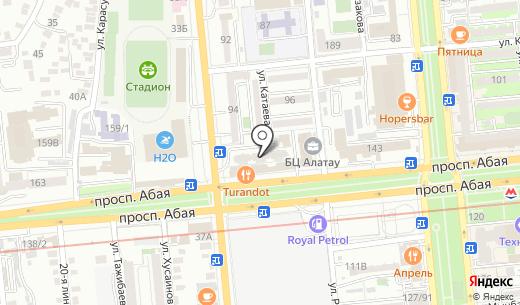 Artigo Trans. Схема проезда в Алматы