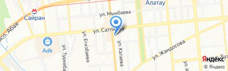 Иланг на карте Алматы