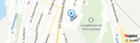 Курс Алматы на карте Алматы