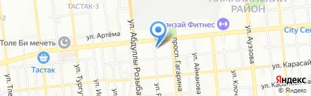 Эльвин на карте Алматы
