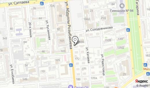 Пункт замены масла. Схема проезда в Алматы