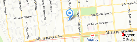 Аква Лайн на карте Алматы