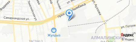 Джагамбек и С на карте Алматы