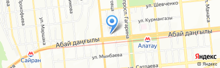 Первый советникъ на карте Алматы