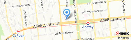 Кристалл Строй Проект ТОО на карте Алматы