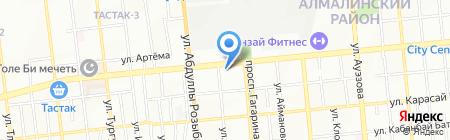Нотариус Оспанова Д.Х. на карте Алматы