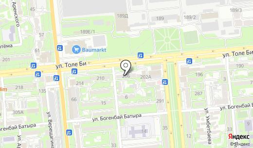 NRG Motion. Схема проезда в Алматы