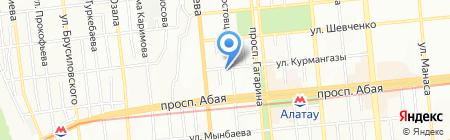Ирица на карте Алматы