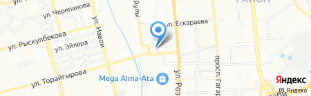 Шиномонтажная мастерская на ул. Тажибаевой на карте Алматы