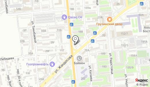 Malina. Схема проезда в Алматы