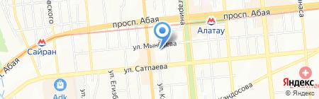 Ясли-сад №72 на карте Алматы