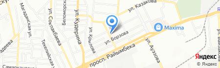 Автомойка на ул. Брюсова на карте Алматы