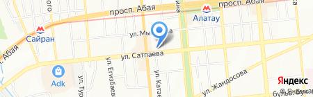 Нотариус Акбалаева Ш.О. на карте Алматы