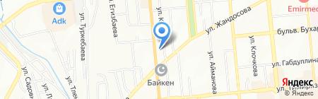 Ерсултан на карте Алматы