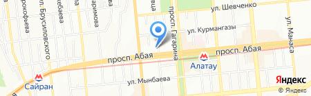 Агентство по статистике Республики Казахстан на карте Алматы